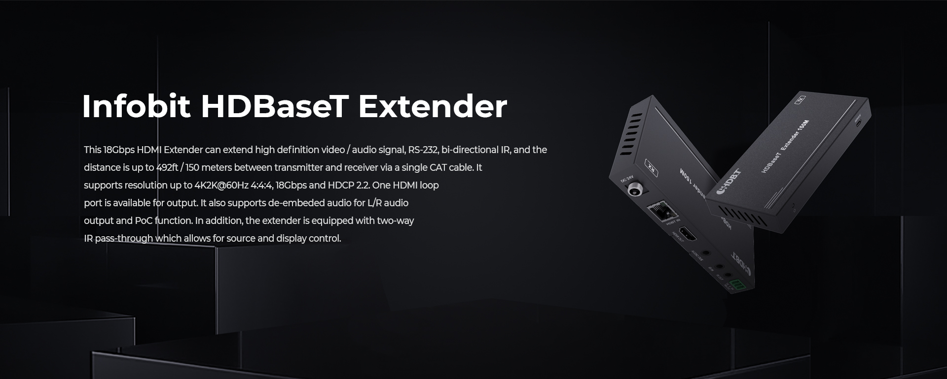 iTrans E150CG 18Gbps HDMI HDBaseT extenders