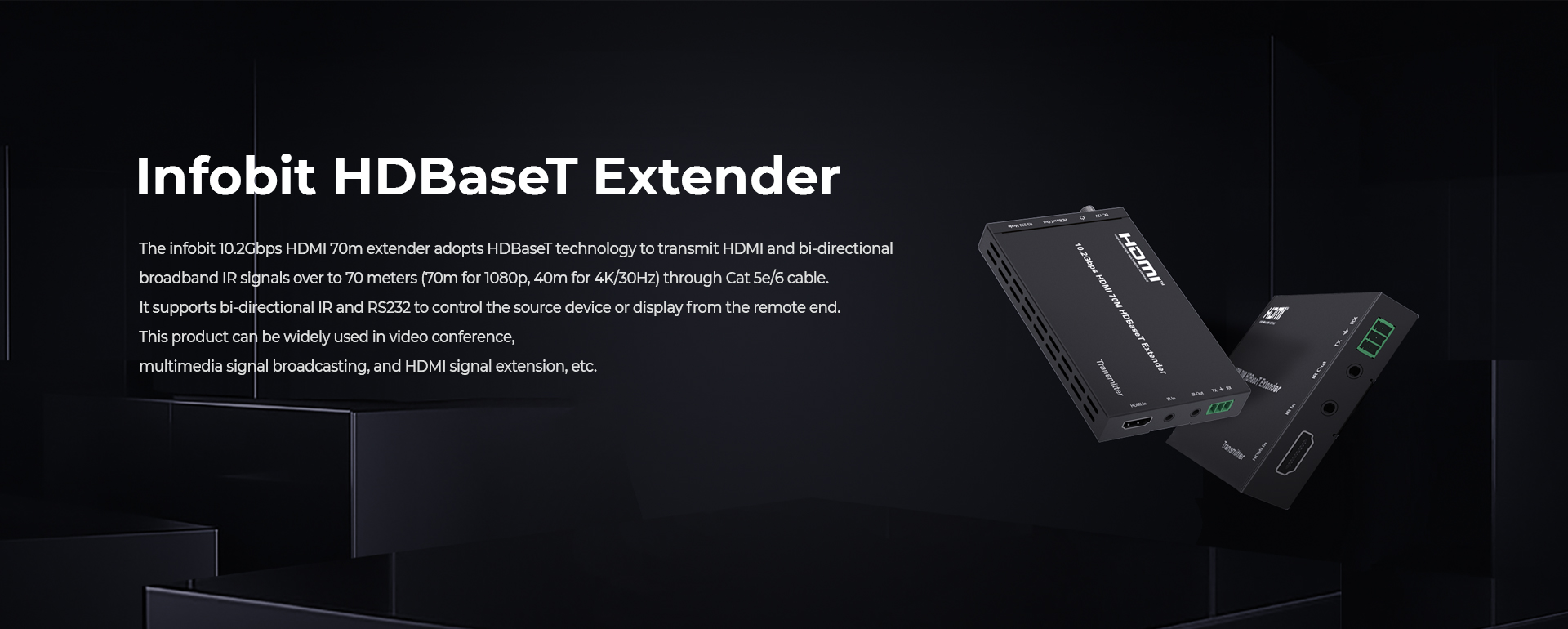 iTrans E70C 10.2Gbps HDMI HDBaseT extenders