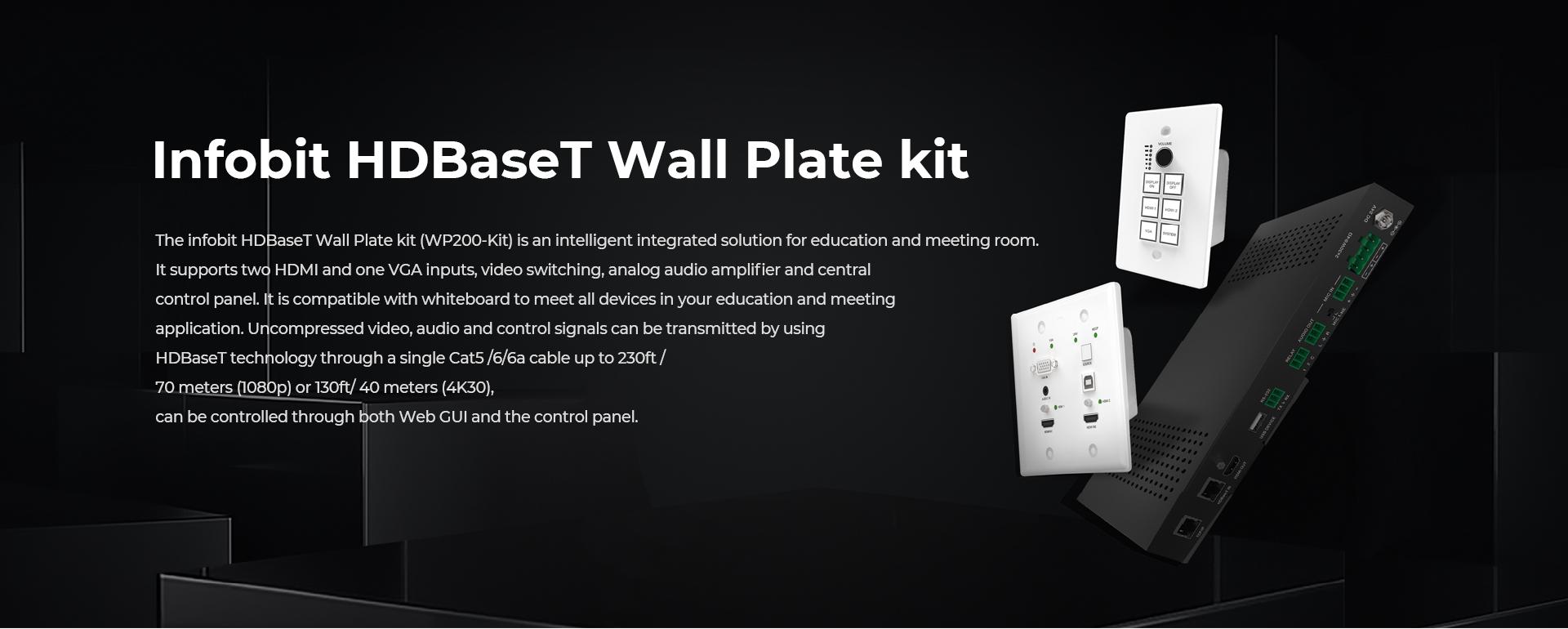 iTrans WP200 Kit HDBaseT Wall Plate transmitter receiver