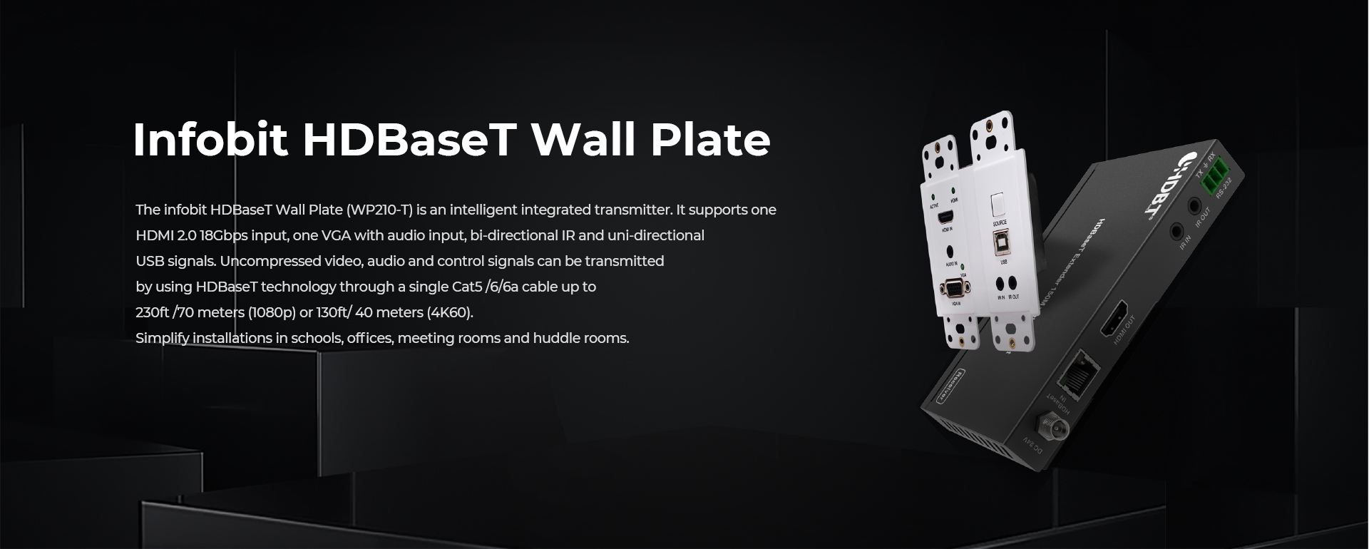 iTrans WP210-T HDBaseT Wall Plate transmitter