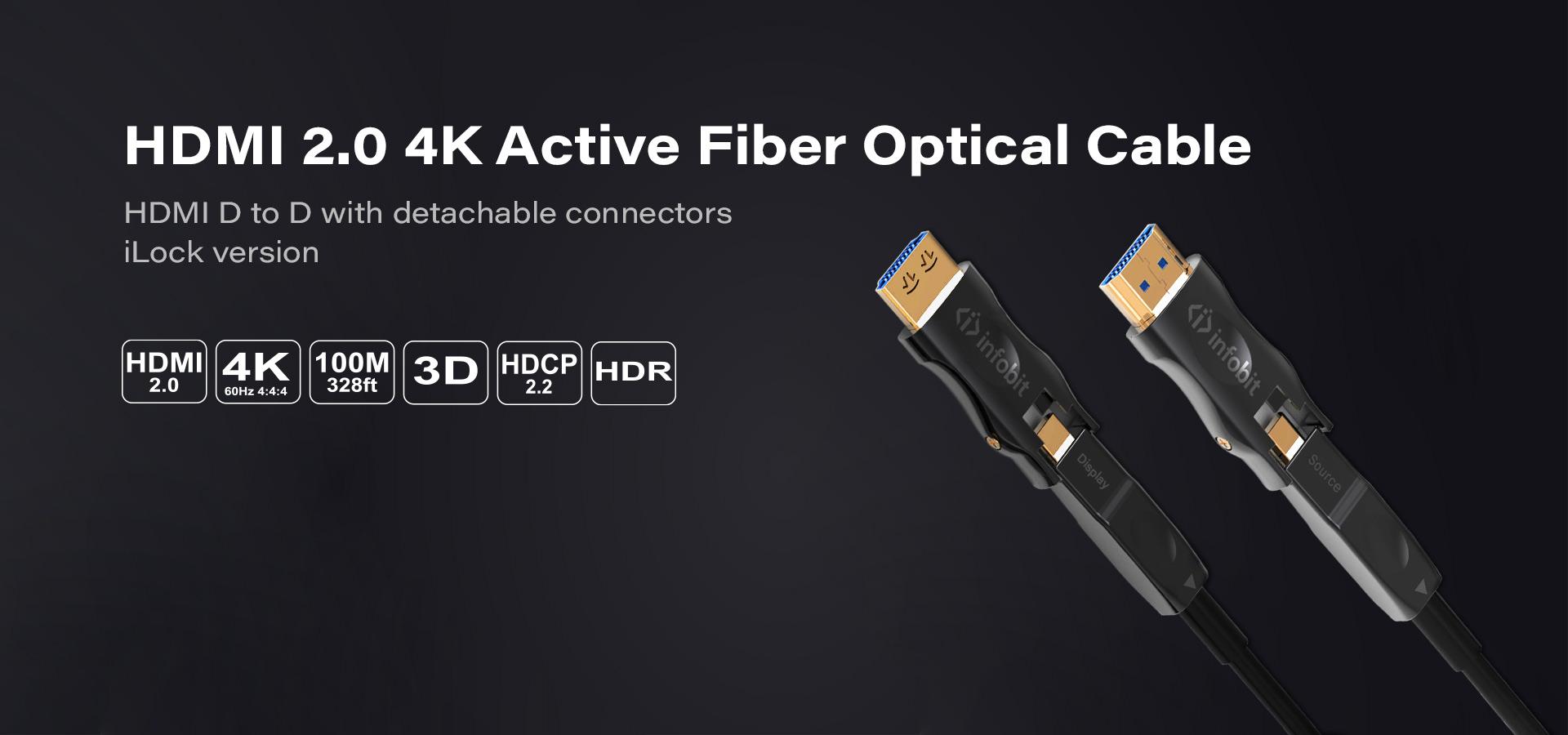 DD: HDMI D to D detachable connectors with iLock