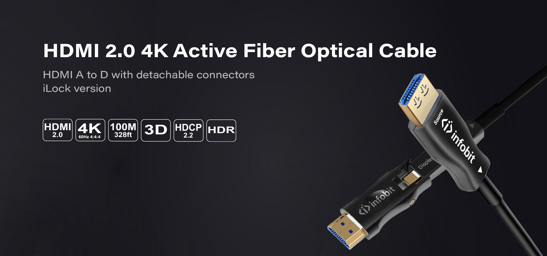 AD: HDMI A to D detachable connectors with iLock