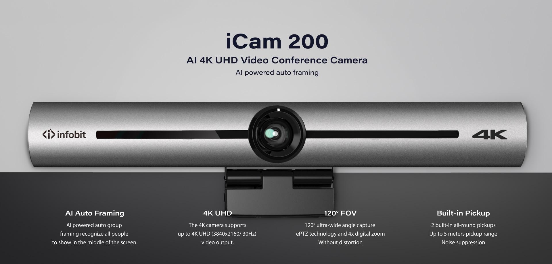 iCam 200 4K USB conference camera