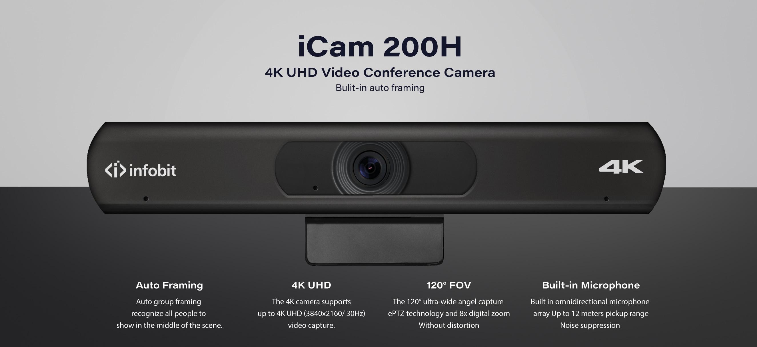 iCam 200H 4K USB Camera