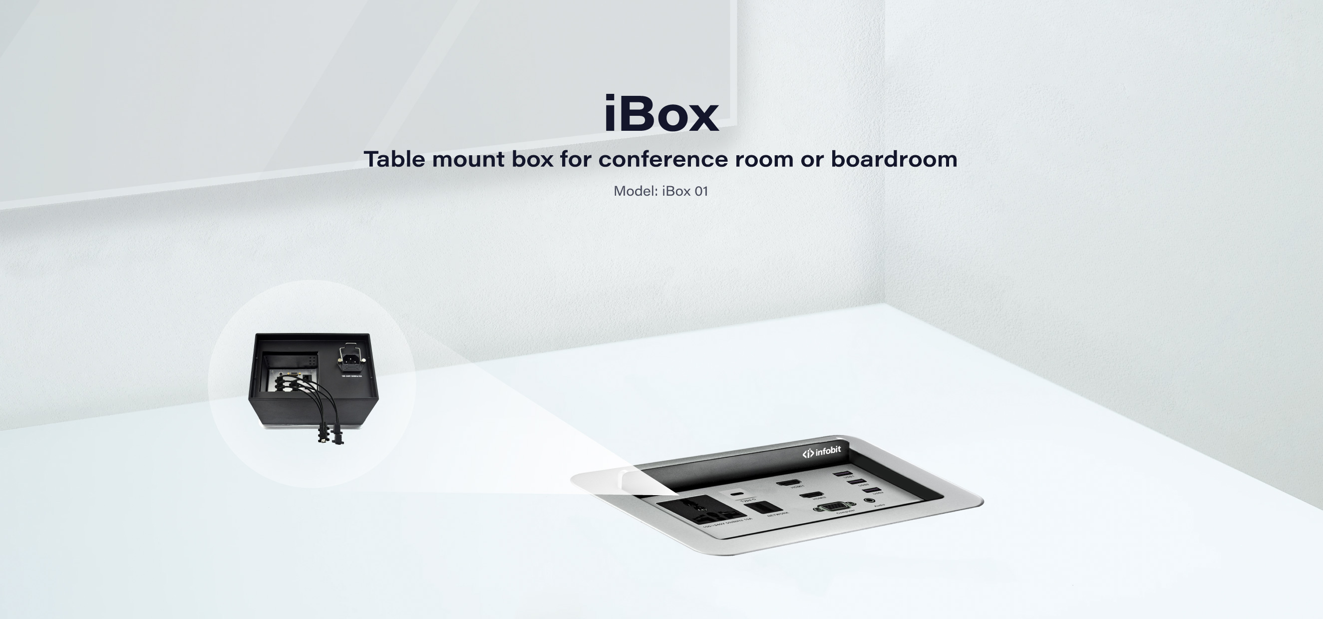 iBox 01: Table Mount Box for Conference