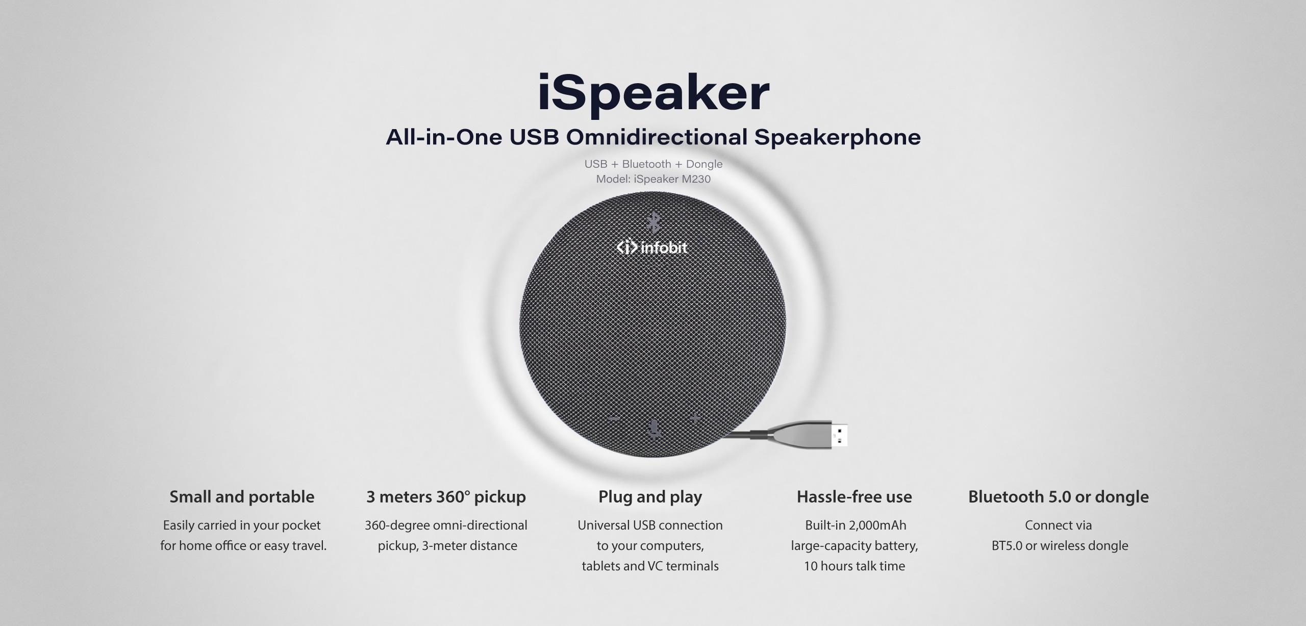 iSpeaker M230 Bluetooth speakerphone