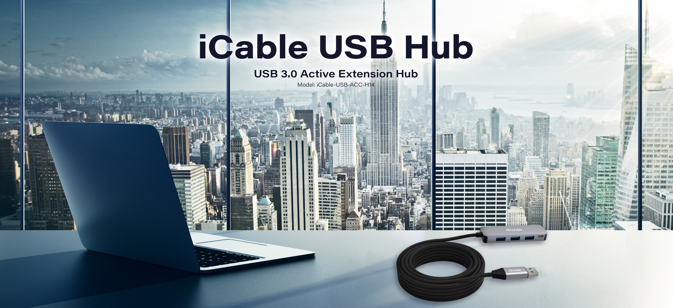 iCable Active USB 5Gbps extension Hub