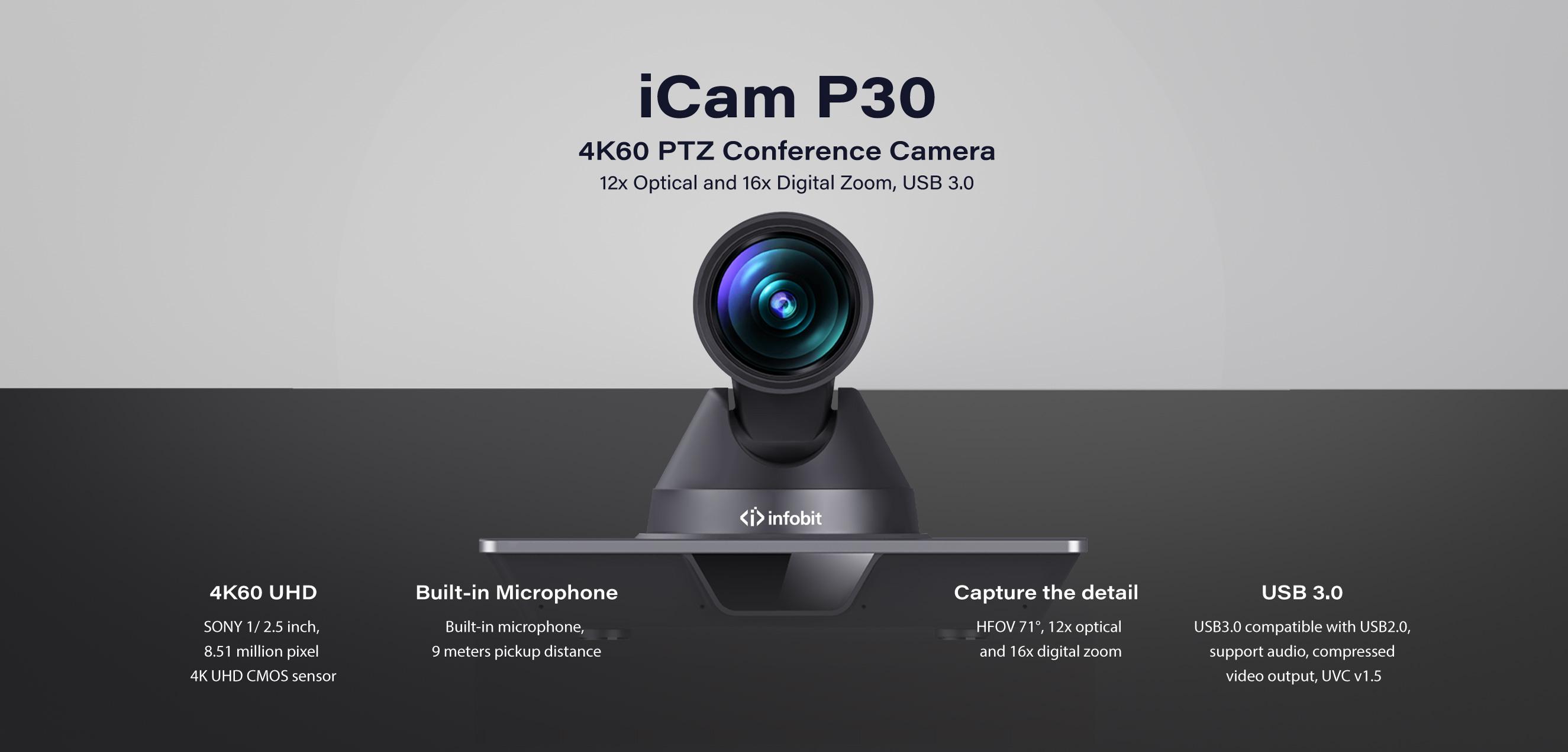 iCam P30 4K60 PTZ camera