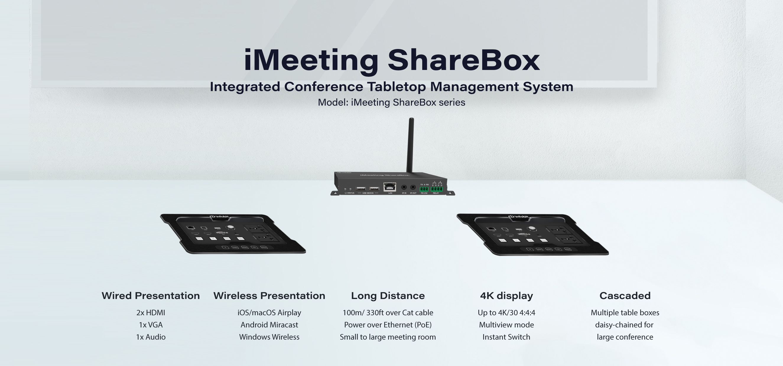 ShareBox BYOD Wireless Presentation Table Box