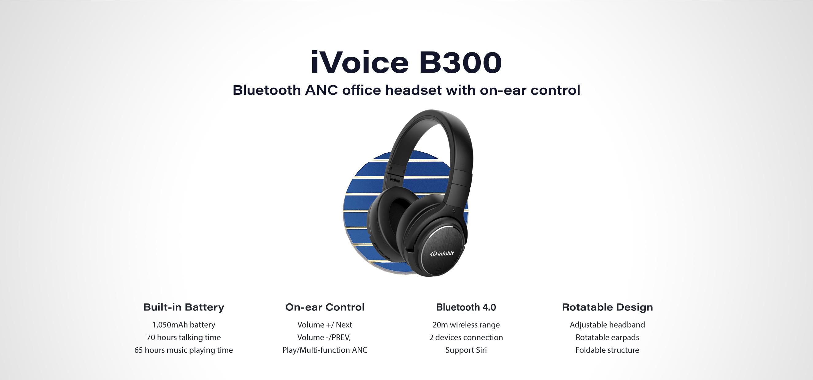 INFOBIT iVoice B300 wireless Bluetooth office Headset