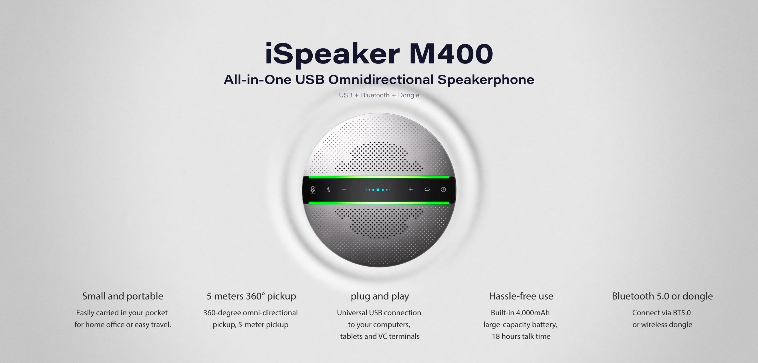 INFOBIT iSpeaker M400 USB Bluetooth speakerphone